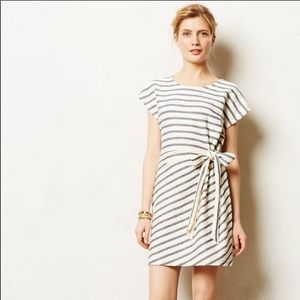 Anthropologie Saturday Sunday striped bow dress